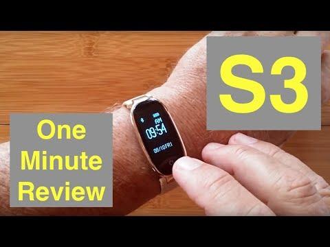 Xxx Mp4 ZKCREATION S3 Fitness Tracker For Women IP67 Waterproof Smart Bracelet One Minute Overview 3gp Sex