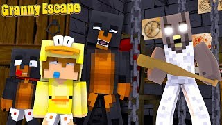 Minecraft Granny Game - WE GET TRAPPED IN EVIL GRANNY GAME'S HOUSE!!