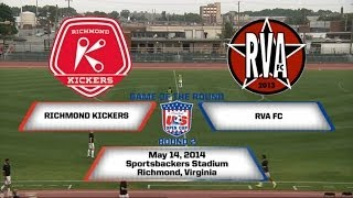 U.S. Open Cup Game of the Round - Round 2: RVA FC vs. Richmond Kickers