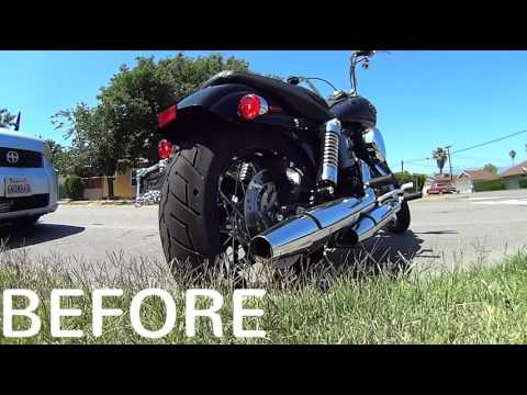 screaming eagle On Harley Davidson Dyna street bob BEFORE AND AFTER