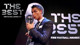 Cristiano Ronaldo reaction - The Best FIFA Men's Player 2017 (ENGLISH)