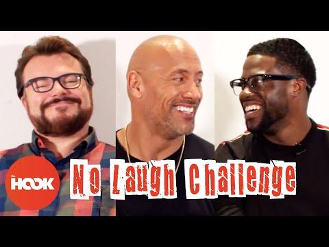 DWAYNE JOHNSON KEVIN HART & JACK BLACK Try To Make Each Other Laugh Jumanji The Hook