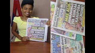 MAGAZETI: Mtoto Aolewa na Baba Yake Mzazi, Mama Mtu Kilio