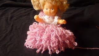 كروشيه غرزة القعدة او الشراشيب او الفرو Loop Stitch Crochet