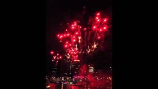 Riverfire 2012 Fireworks in Slow Motion 60fps 4