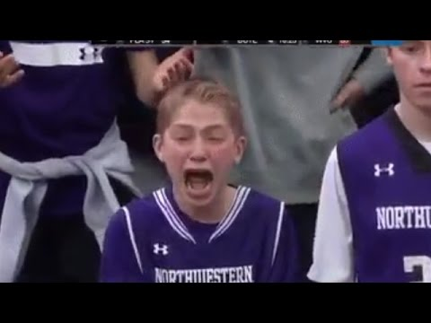 Northwestern Basketball Fan Losing His Marbles REACTION