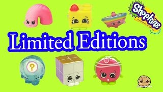 All 6 Season 5 Shopkins Tiny Toys Limited Edition Complete Set Blind Bag Opening - Cookieswirlc