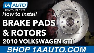 How to Replace Install Brake Pads & Rotors 2010 Volkswagen GTI