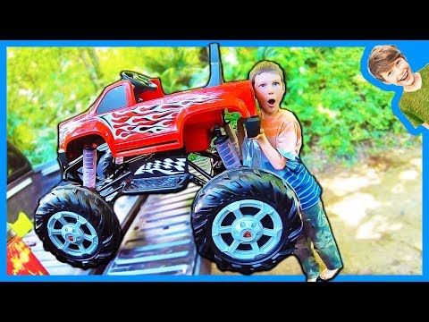 MONSTER TRUCK IN A PICKUP TRUCK