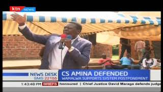 CS Eugene Wamalwa quotes Abraham Lincoln in efforts to defend Amina Mohamed