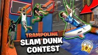 INSANE Trampoline Dunk Contest & Obstacle Course! *Hilarious*