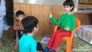 Kashmiri Kids Making Drama