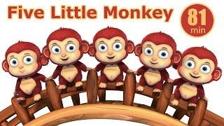 Five Little Monkey Jumping In The Pond | Nursery Rhymes from Jugnu kids