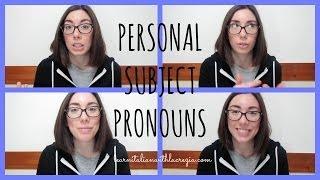 Learn Italian grammar: personal subject pronouns