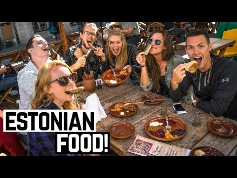 ESTONIAN FOOD Bear & Boar Sausage Elk Pies and Marzipan Americans Try Estonian Food