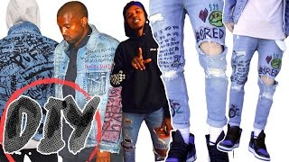 YEEZY INSPIRED DENIM DIY TUTORIAL