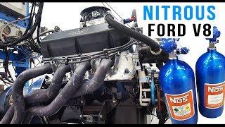 Nitrous Ford V8 engine dyno