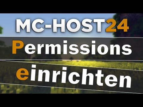 MCHost PermissionsEX Einrichten Gruppen Rechte Auf Deinem - Minecraft nitrado server gruppen erstellen