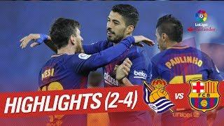 Resumen de Real Sociedad vs FC Barcelona (2-4)