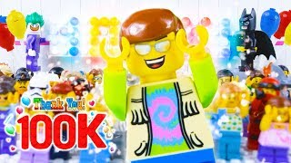 LEGO Celebration Party! STOP MOTION LEGO 100k Party with Minifigures   LEGO City   By Billy Bricks