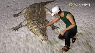 Crocodile attack rips leg off reptile park worker in Malaysia - TomoNews