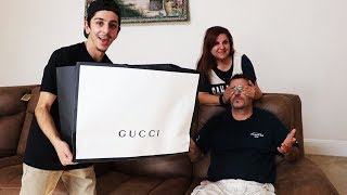 SURPRISING MY DAD WITH $3,000 OF GUCCI!! *emotional*