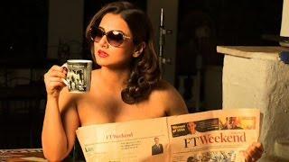 Vidya Balan's Topless HOT Photoshoot | Dabboo Ratnani Calendar Making - 2015 (Full Video)