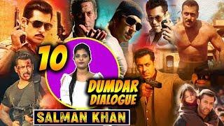 Salman Khan Top 10 Best Dialogues Of His Career | Blockbuster Dialogue Of Bhaijaan | Fans Collection