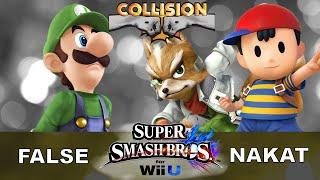 Smash Wii U Tournament - LoF False (Luigi) vs LoF NAKAT (Ness/Fox) - Collision XI
