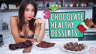 3 CHOCOLATE DESSERTS! - Healthy & Easy 🍫Rawvana