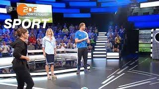 Torwandschießen: Dutkiewicz fordert Harting | das aktuelle sportstudio - ZDF