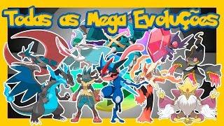 Pokémon XY & Z - TODAS AS MEGA EVOLUÇÕES (1ª á 6ª Geração)