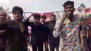 Dance master Sandy supports jallikattu in Chennai Marina