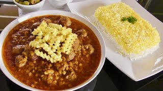 Traditional Persian Recipe - Khoresht Ghaymeh with Mince Meat -  kofta Recipe