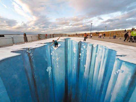 The Crevasse Making of 3D Street Art