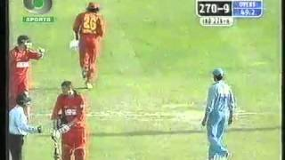 Aggression from Captain Sourav Ganguly - Asks Waterboy Pommie Mbangwa to walk off the field