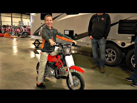 CAMERON GETS A NEW BIKE AFTER HIS PREVIOUS BIKE WAS STOLEN - STATION PARK HONDA - 2015 CRF50
