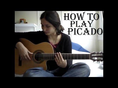How to play picado (guitar lesson) ✔