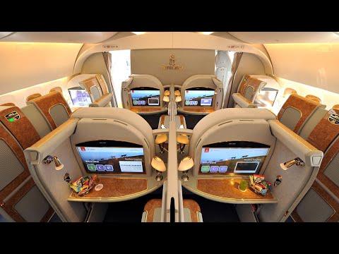 Emirates A380 First Class Dubai to Amsterdam lounge a trip report