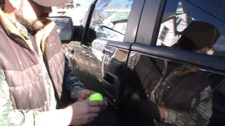 How to UNLOCK  a CAR DOOR WITH ONLY A TENNIS BALL!!