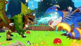 FOREST DRAGON ATTACKS DEADLY NADDER! Minecraft Dragons