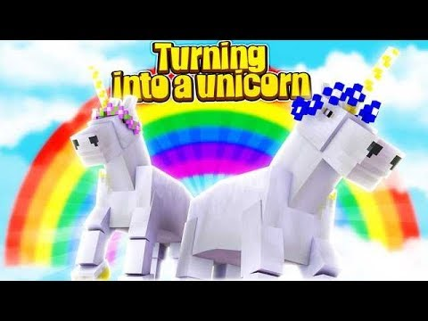 SISTERS TURN INTO UNICORNS!! w/Little Carly and Little Kelly (Minecraft).