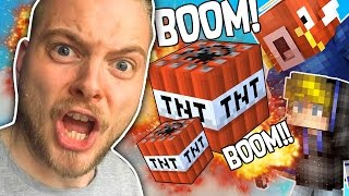 KILLING EVERY TEAM USING TNT in BEDWARS!! - MINECRAFT MINI GAME