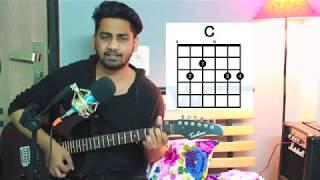 Nazm Nazm Guitar Chords Lesson Bareilly ki Barfi | Arku | by Accoustic shaikh