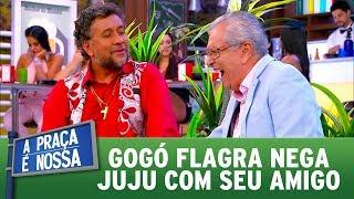 Gogó flagra Nega Juju com seu amigo  | A Praça é Nossa (21/09/17)