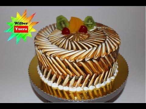 como decorar una torta con jalea o salsa wilber yucra