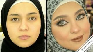 فتاة تحول عيونها لعيون دمية شاهدها  قبل وبعد