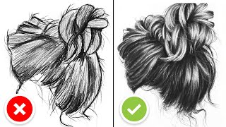 DO'S & DON'TS for Drawing Hair - Realistic Drawing Tutorial