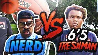 NERD vs 6'5 HIGHSCHOOL FRESHMAN!!!! 😳😨 LOSER GETS PAINFUL PUNISHMENT!!! (GONE WRONG)