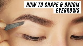 How to Shape & Groom Eyebrows at Home | Tina Yong